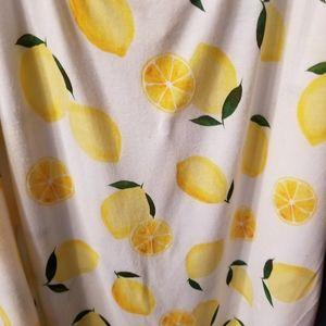 H&M Tops - H&M Large White Lemon Print Tank Top